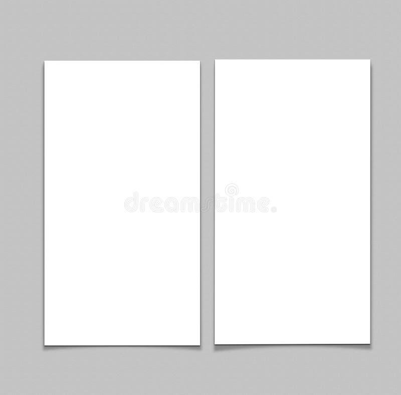 空白的白色4x8英寸飞行物收藏- 6 免版税库存照片