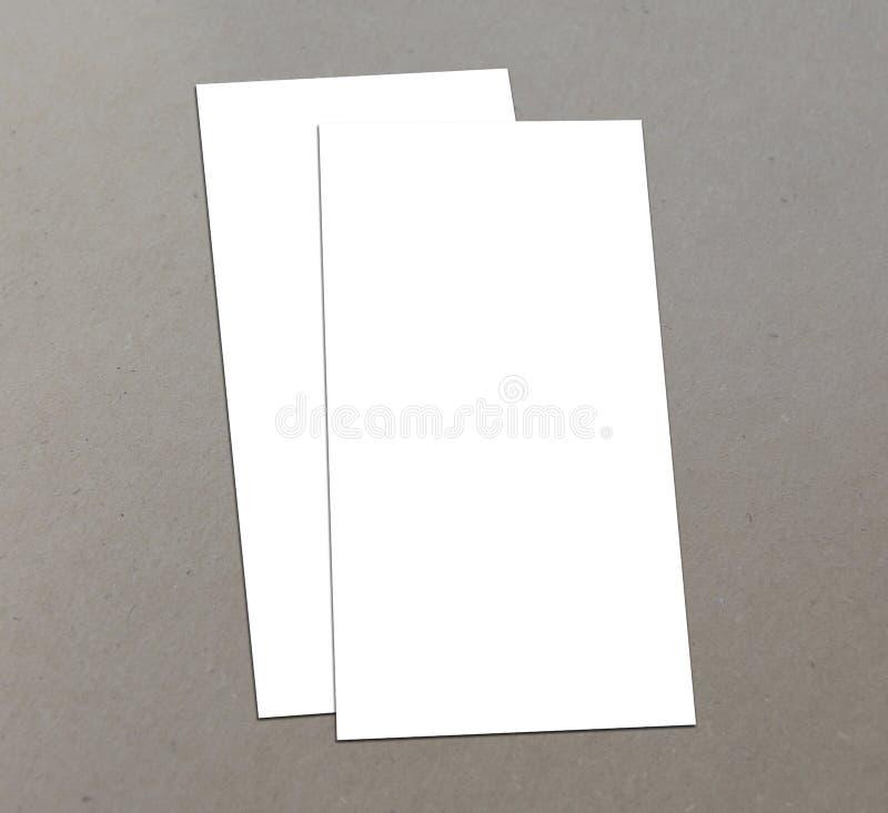 空白的白色4x8英寸飞行物收藏- 8 免版税库存图片