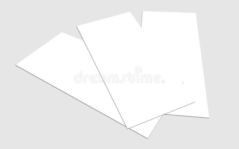 空白的白色4x8英寸飞行物收藏- 12 免版税图库摄影