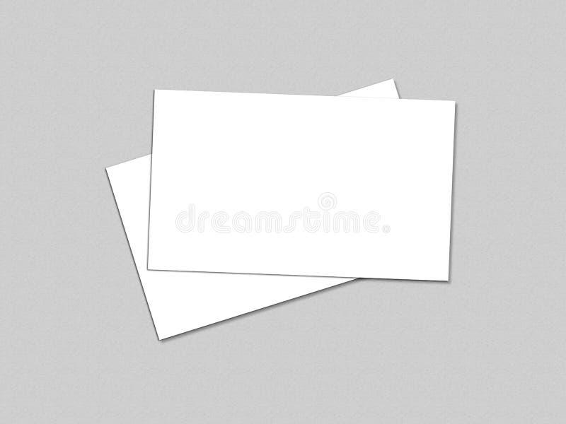 空白的白色4x8英寸飞行物收藏- 27 库存照片