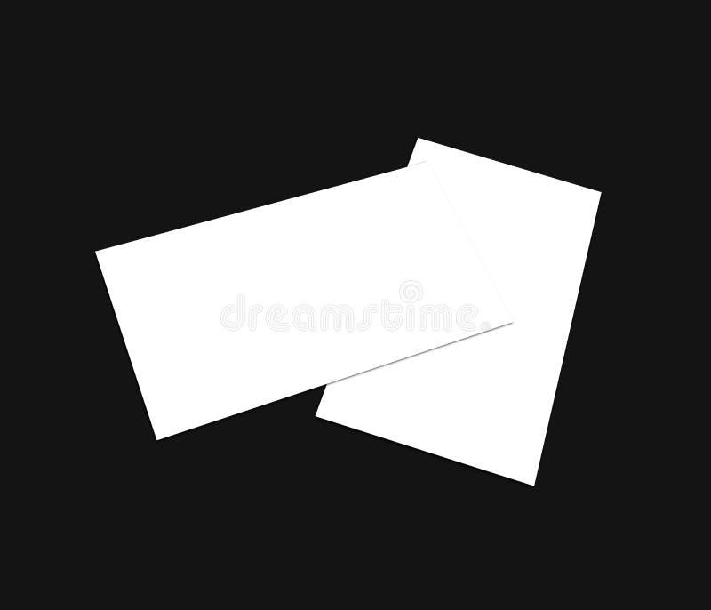 空白的白色4x8英寸飞行物收藏- 36 免版税库存图片