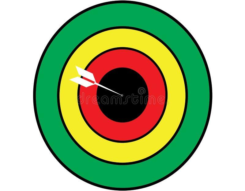 空白的目标体育 库存例证