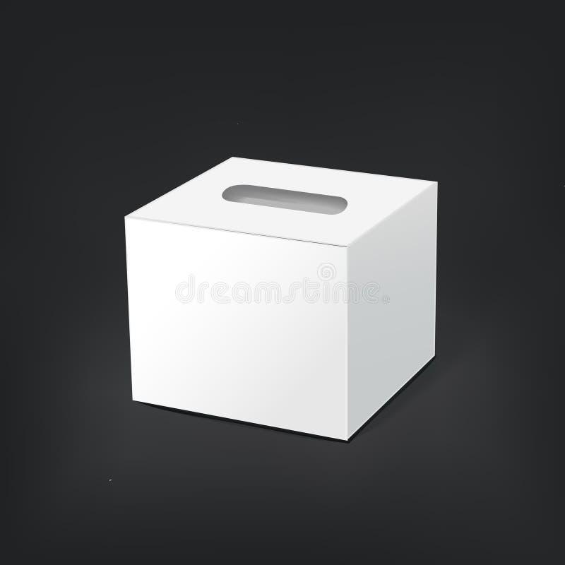 空白的空的组织箱子 向量例证
