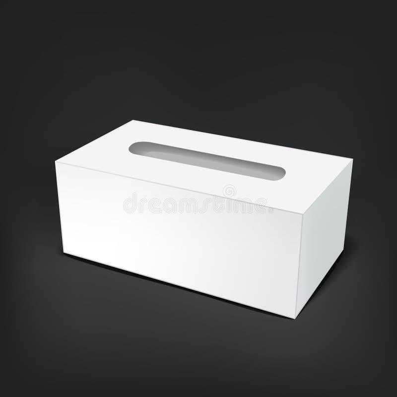 空白的空的组织箱子 皇族释放例证