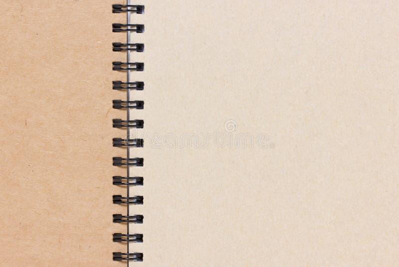 空白的笔记本。 免版税库存图片