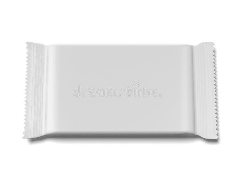 空白的箔包裹 库存例证