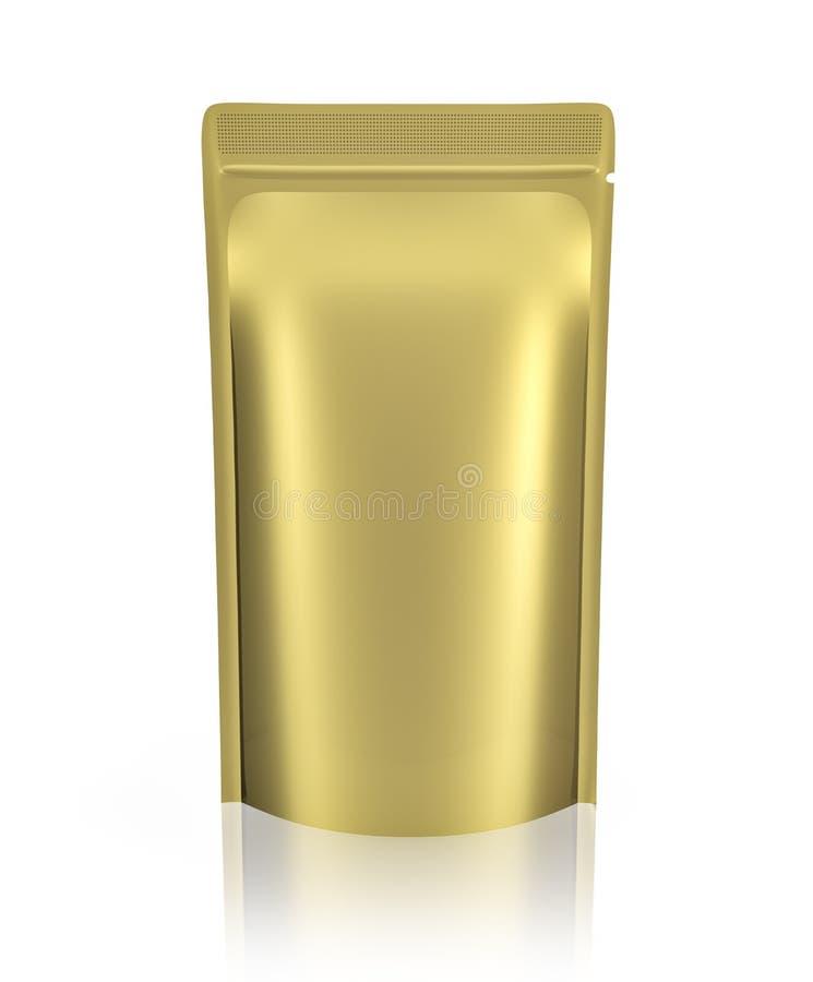 空白的箔或塑料香囊 皇族释放例证