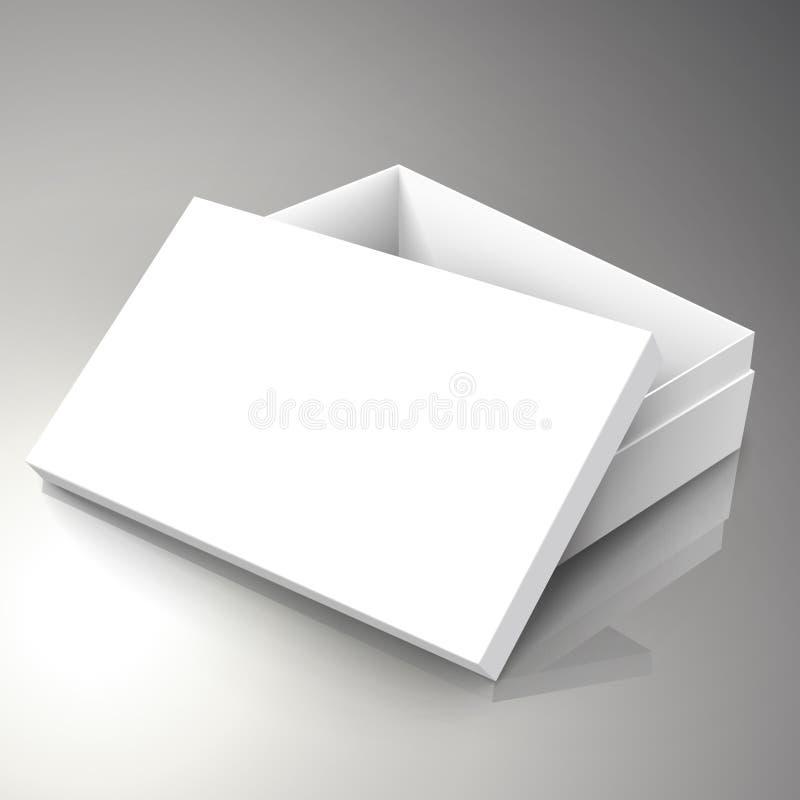 空白的箱子设计 库存例证