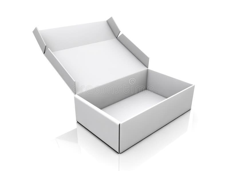 空白的箱子 皇族释放例证
