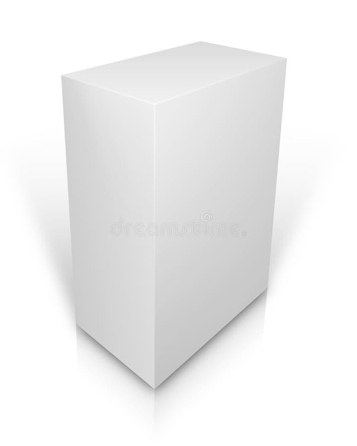空白的箱子 向量例证