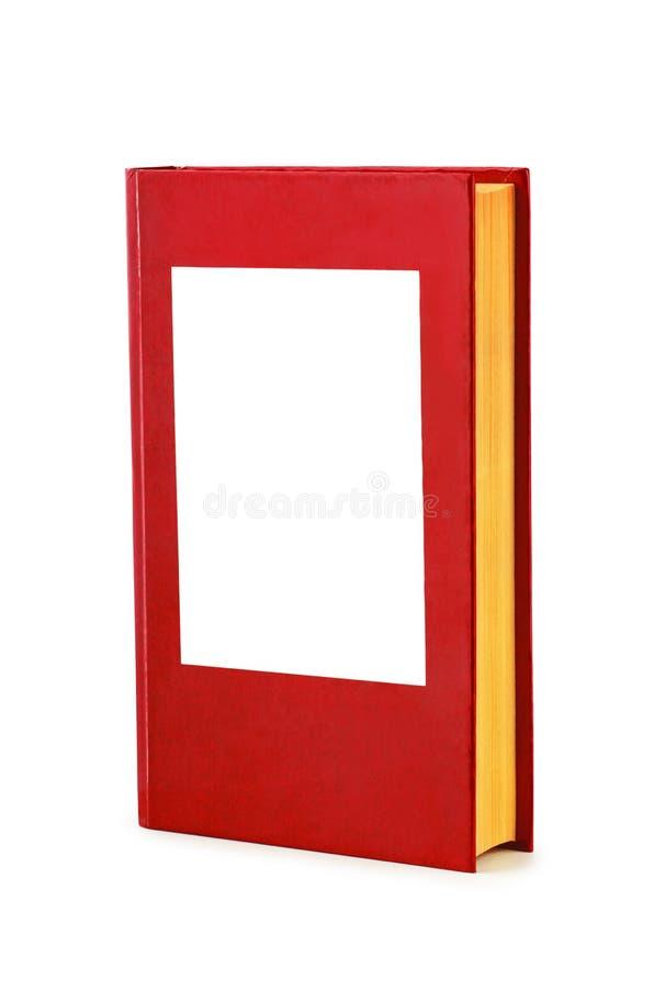 空白的红色精装书书 库存图片