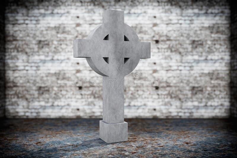 空白的纪念墓碑 免版税库存照片
