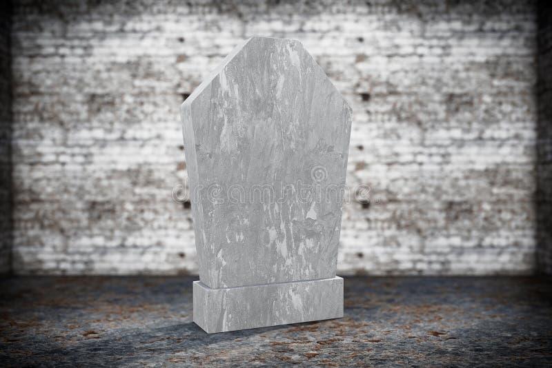 空白的纪念墓碑 图库摄影