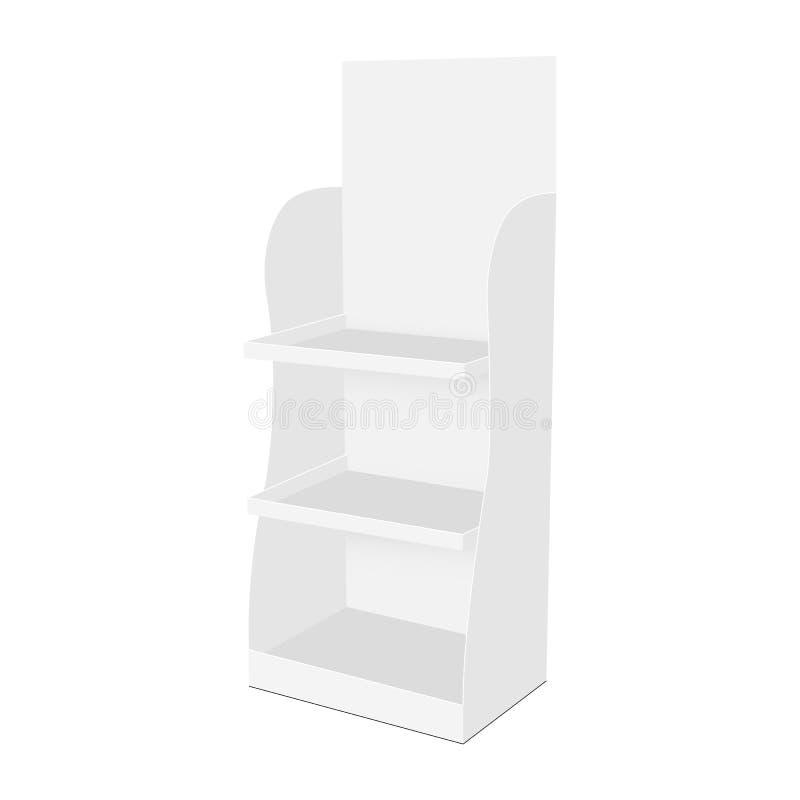 空白的纸板展览架 向量例证