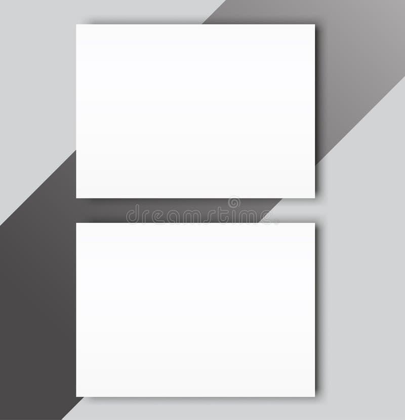 空白的编目风景小册子大模型盖子模板 向量例证