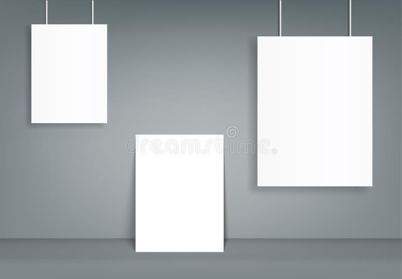 空白的编目风景小册子大模型盖子模板 皇族释放例证