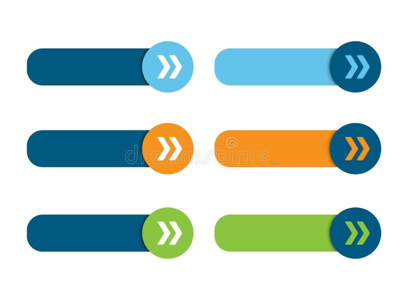 空白的网按钮海报有箭头的 向量例证