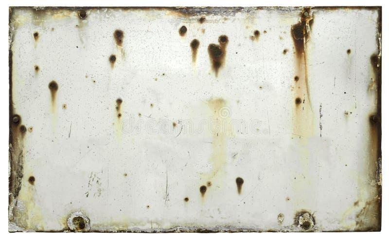 空白的老被风化的标志 免版税库存图片