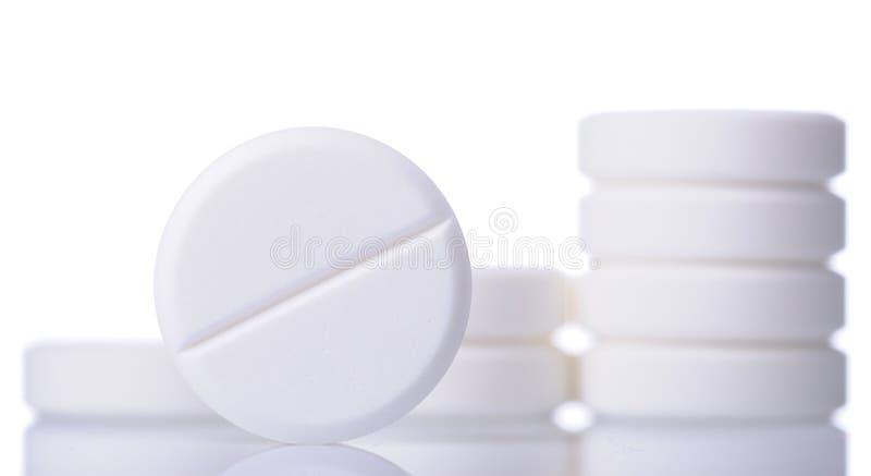 空白的药片 免版税库存图片