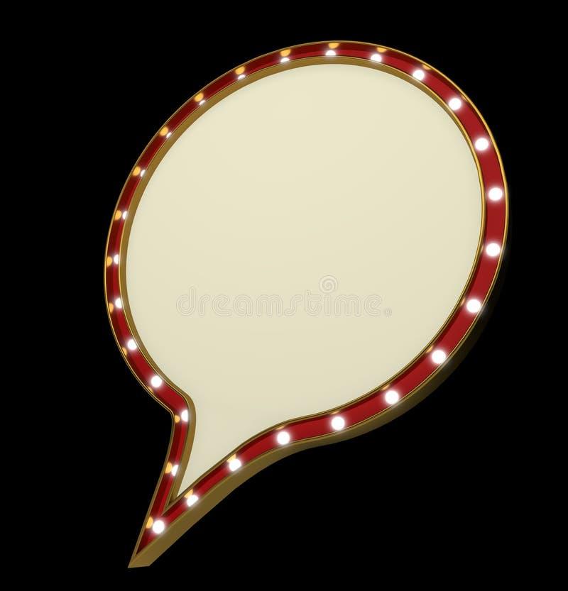 空白的葡萄酒电灯泡圆的大门罩框架 皇族释放例证