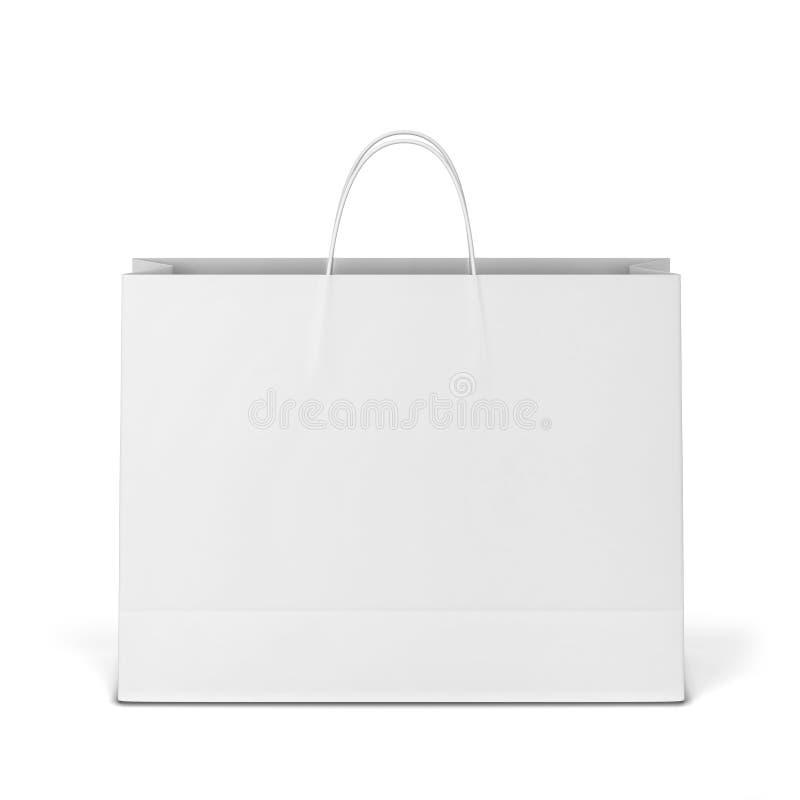 空白的购物袋大模型 皇族释放例证