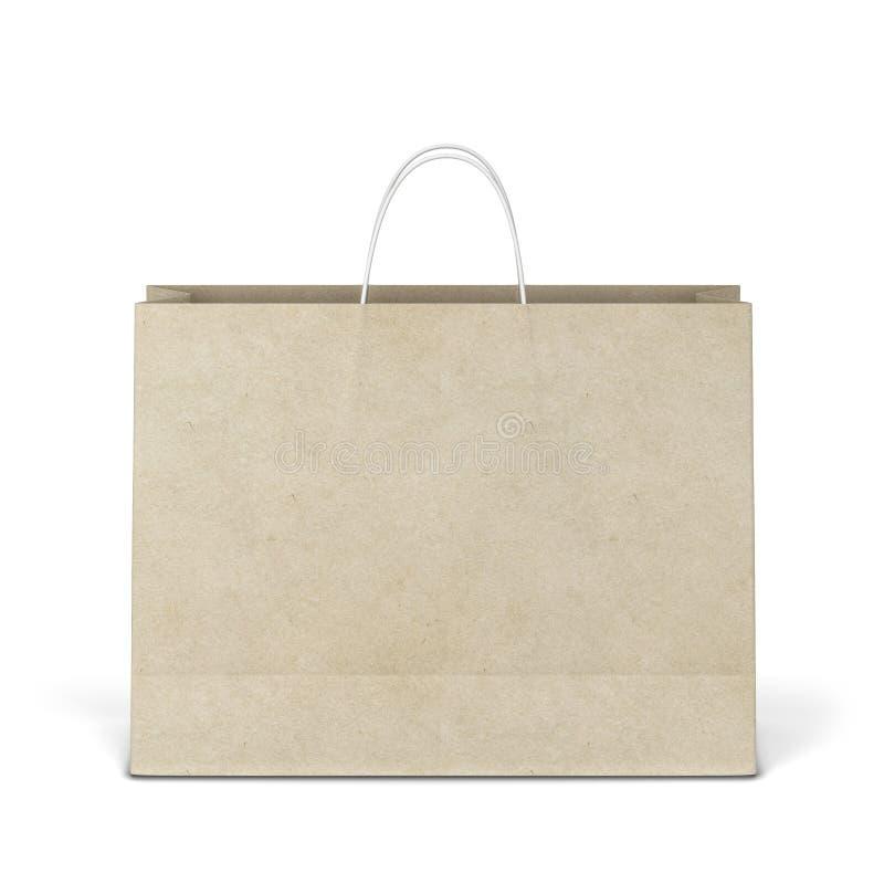 空白的购物袋大模型 免版税库存照片