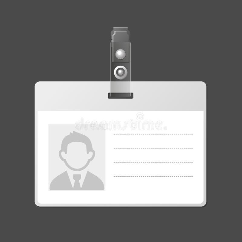 空白的身份证徽章ID模板。传染媒介 库存例证
