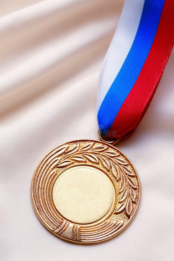 空白的金属奖牌 库存图片
