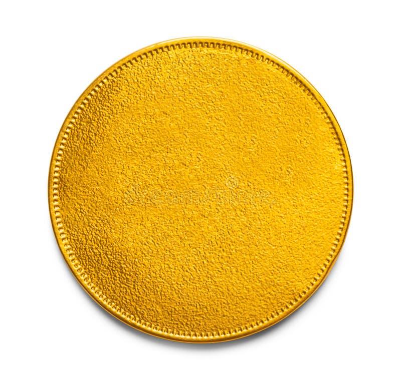 空白的金币 图库摄影