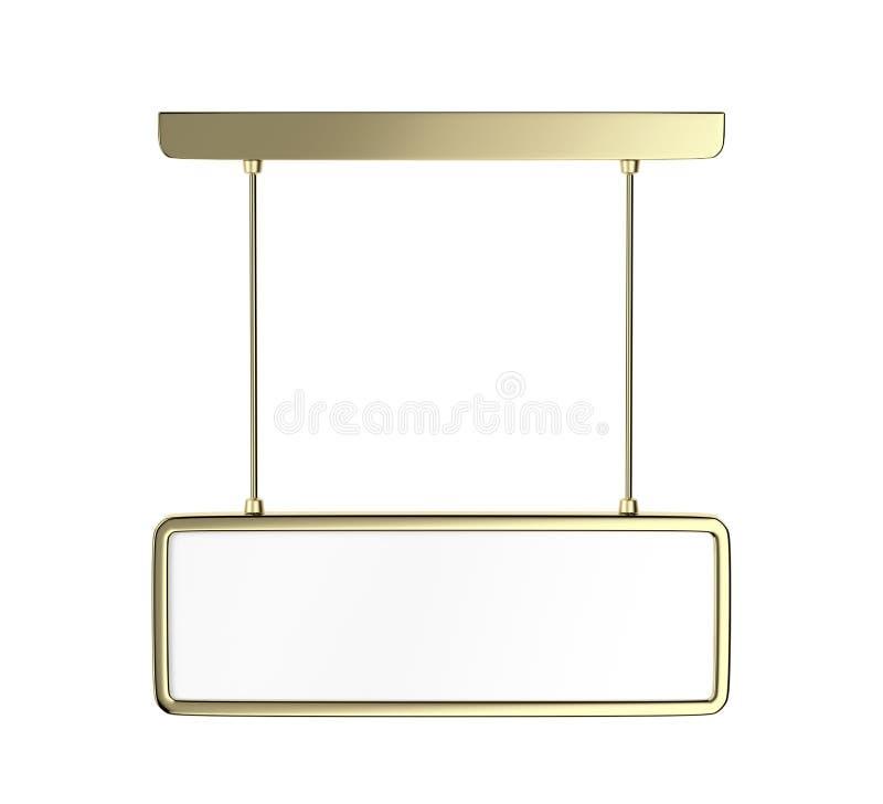 空白的金黄信息盘区 向量例证