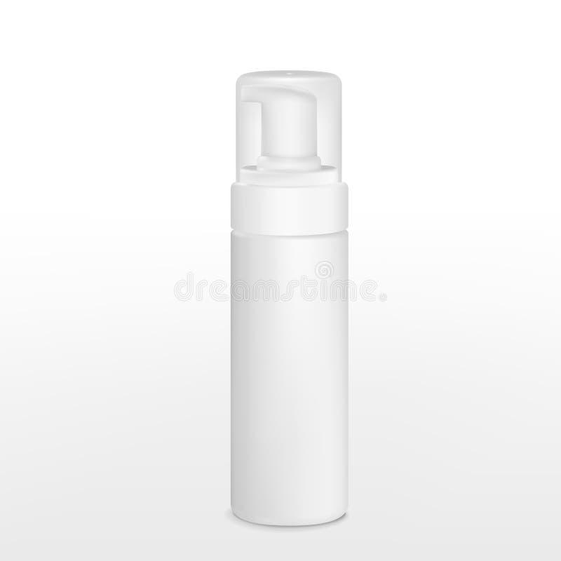 空白的铝喷壶 向量例证