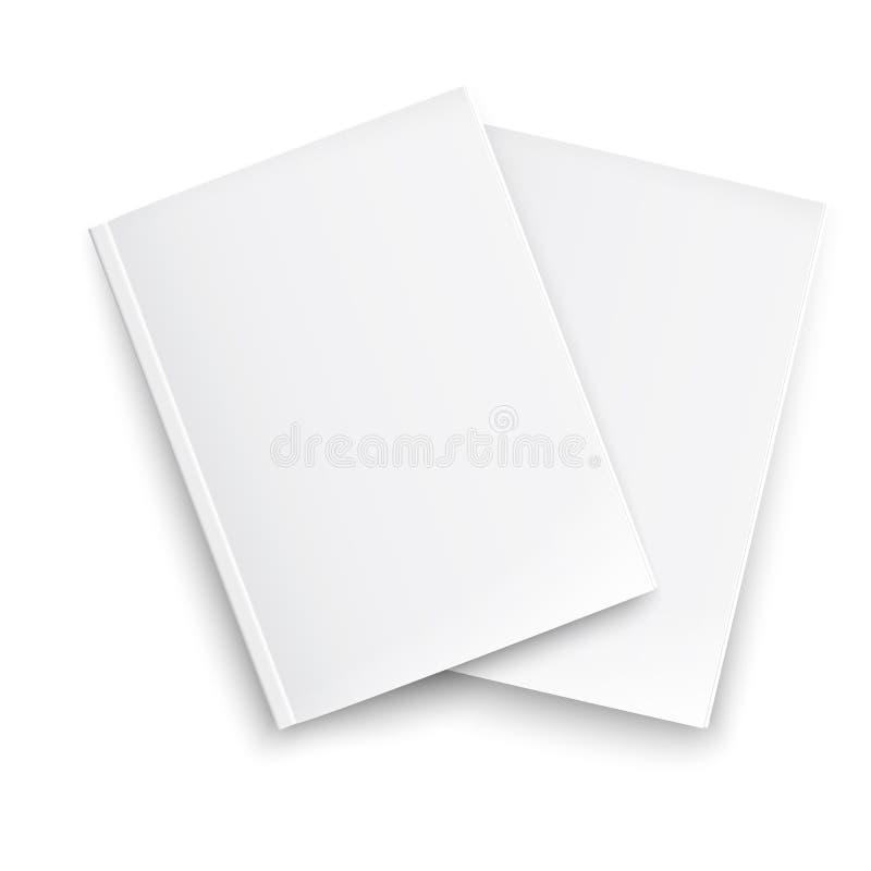 空白的闭合的杂志模板夫妇。 皇族释放例证