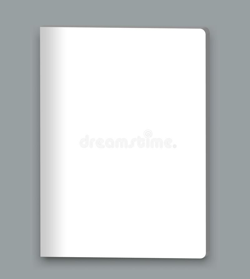 空白的闭合的杂志,书,小册子,小册子大模型盖子模板 库存例证
