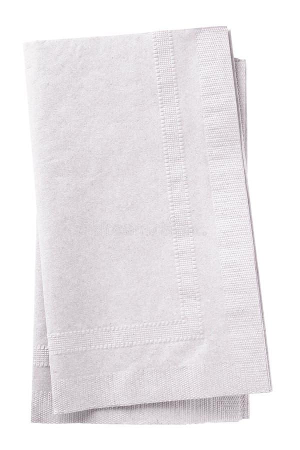 空白的餐巾 免版税库存照片