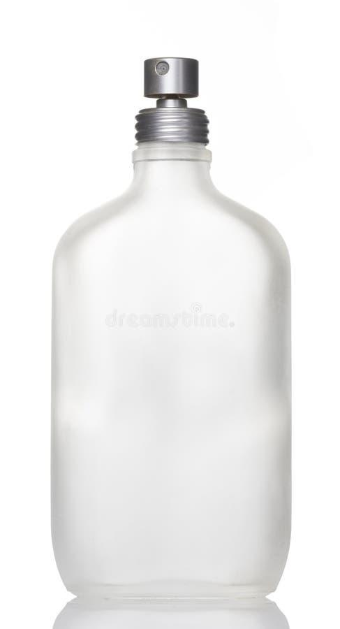 空白的香水瓶白色背景 免版税库存照片