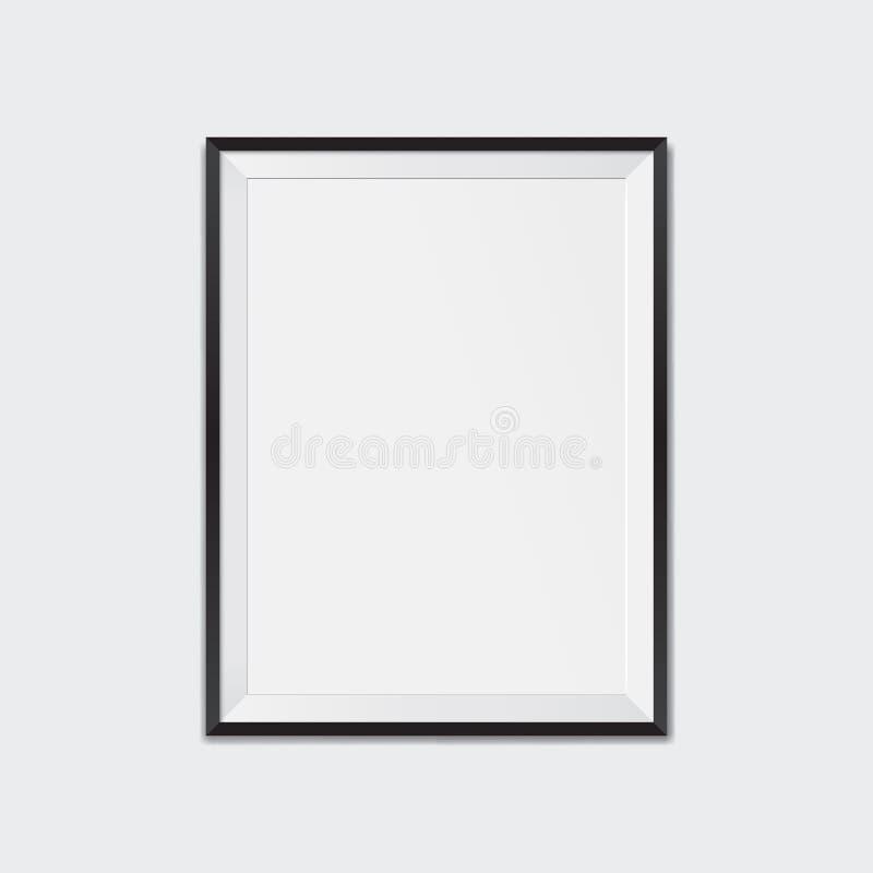 空白的黑画框大模型 库存例证