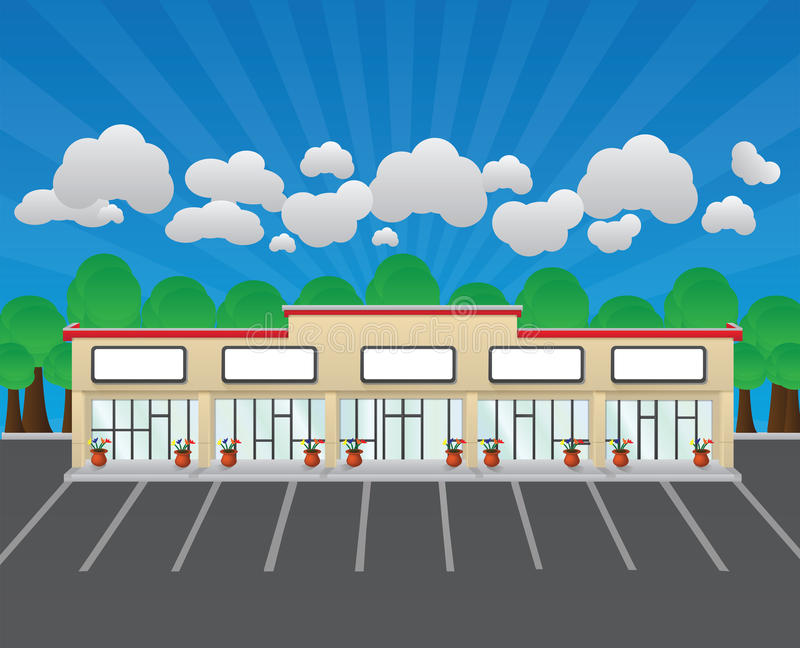空白的购物中心 向量例证