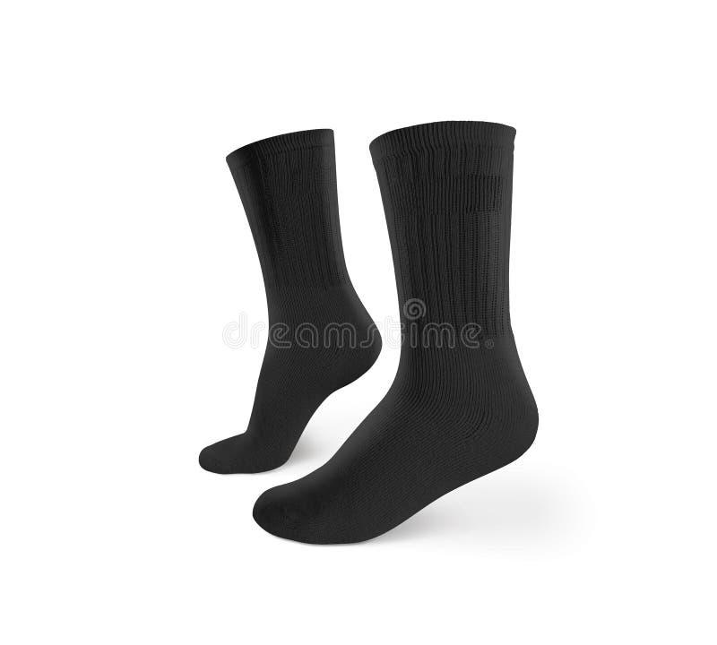 空白的黑袜子设计大模型,被隔绝,裁减路线 库存图片