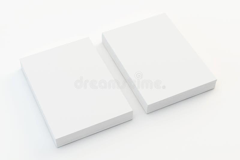 空白的a4纸叠 库存例证