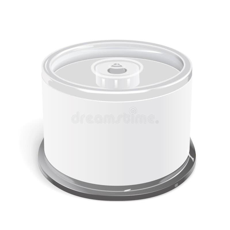 空白的CD的容器 库存例证