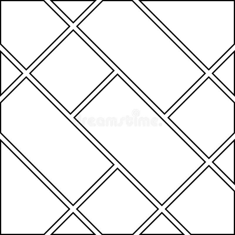 空白的manga大模型对角线模板 向量例证