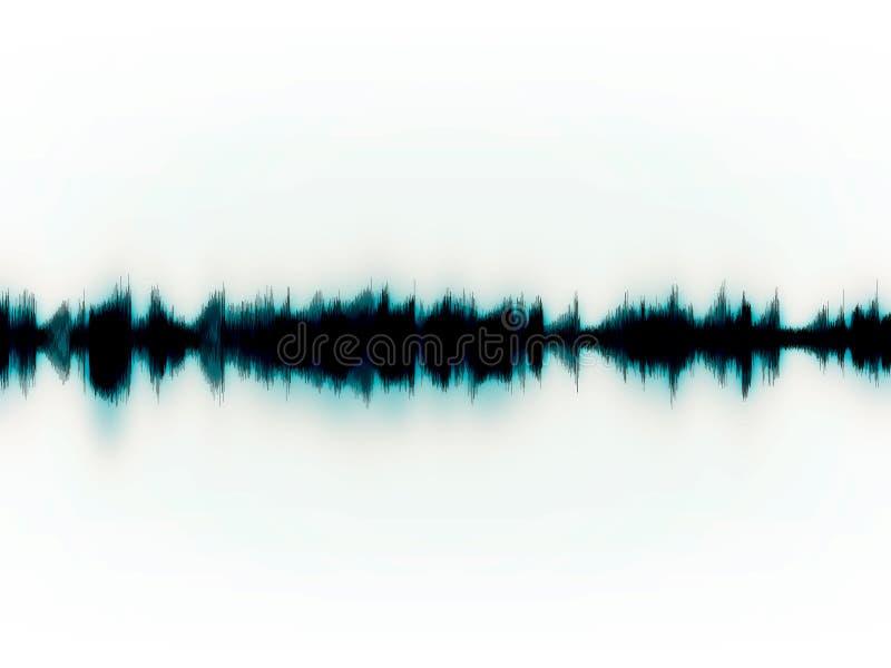 空白的soundwaves 库存例证