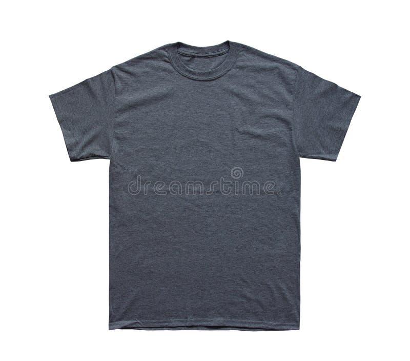 空白的T恤杉颜色黑暗的石南花模板 免版税库存照片