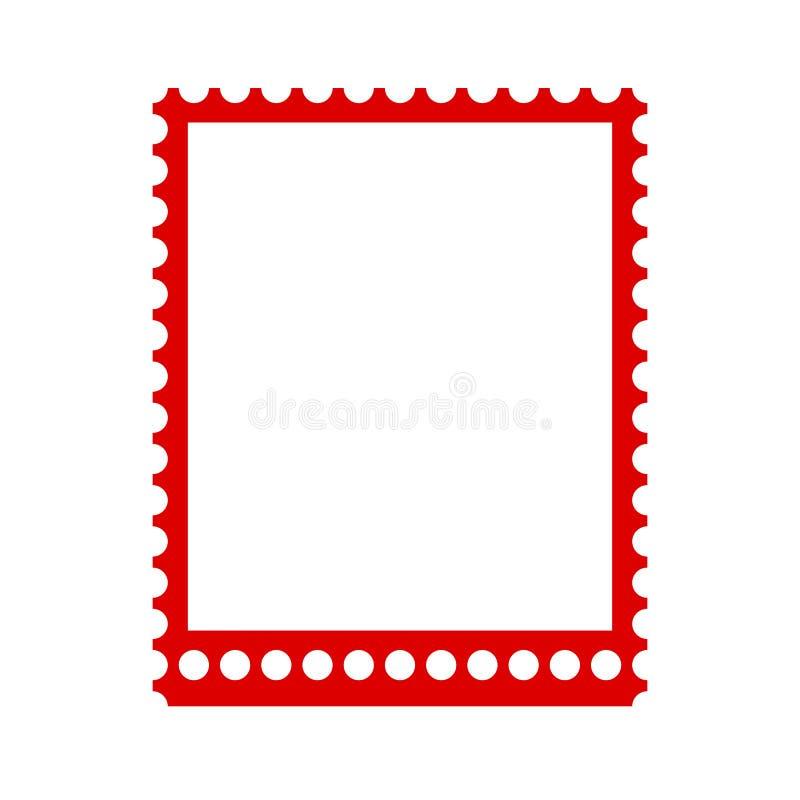 空白盖印框架,邮票-传染媒介 库存例证