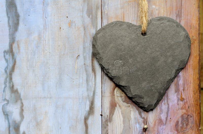 空白石板心脏标志 库存图片