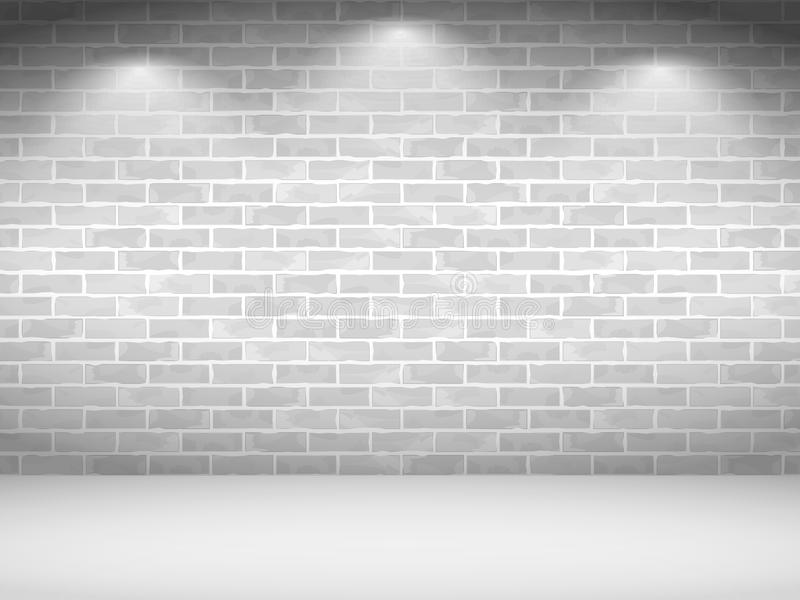 空白砖墙 库存例证