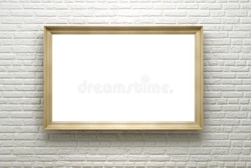 空白砖框架墙壁 库存例证