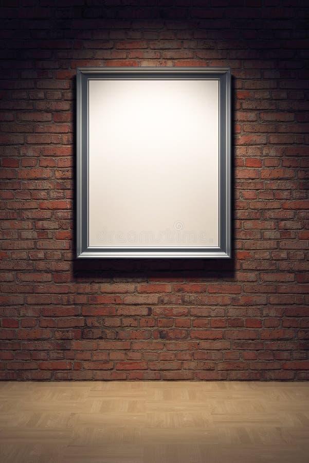 空白砖框架墙壁 向量例证