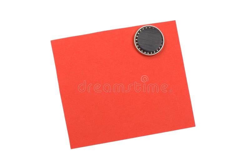 空白磁铁附注红色 库存图片