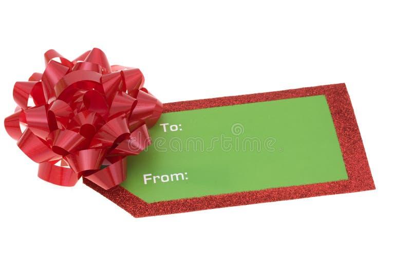 空白礼品节假日标签 免版税库存照片
